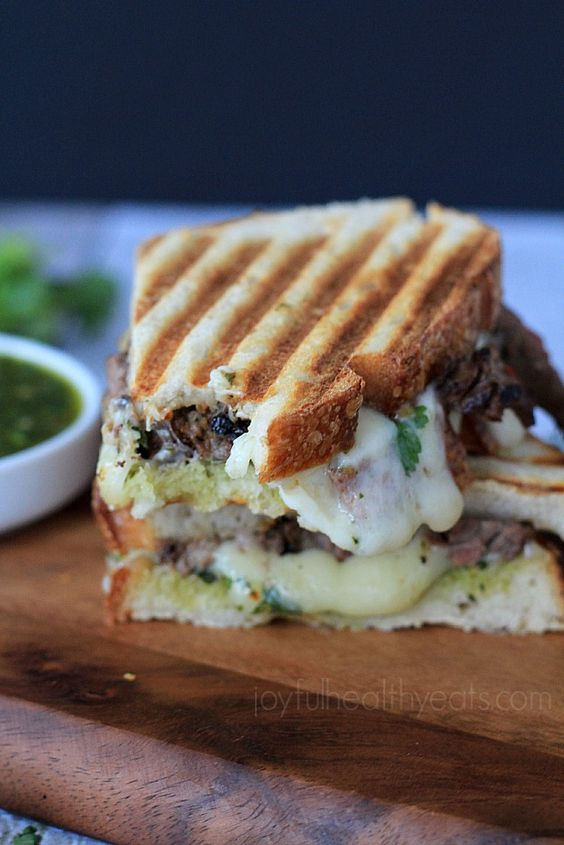 The Ultimate Man Sandwich... Steak & Cheese Panini with a Zesty ...