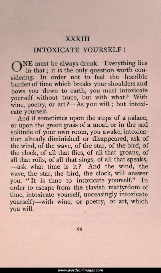 Xxxiii Enivrez Vous Le Spleen De Paris Petits Poemes En Prose Charles Baudelaire Baudelaire Words Inspirational Words