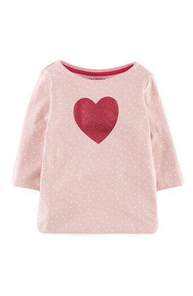 Free shipping and returns on Mini Boden Glitter Graphic Top (Toddler Girls, Little Girls & Big Girls) at Nordstrom.com. A glittering graphic adds to the adorable charm of an incredible soft cotton top with three-quarter sleeves.