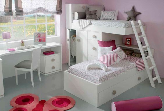 Adorable litera de tren en ngulo ni os dormitorio for Dormitorios para ninos