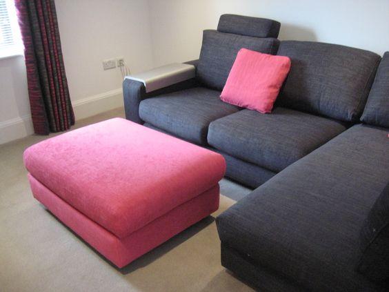 striking eh this sofa plus chaise arrangement includes a. Black Bedroom Furniture Sets. Home Design Ideas