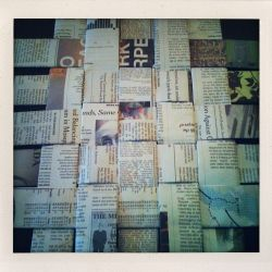 Weave old newspaper into a simple, attractive basket for your home.