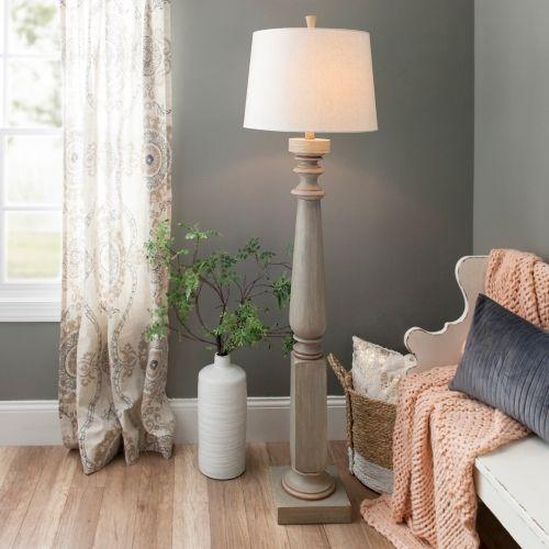 Distressed Oliver Baluster Floor Lamp Kirklands Floor Lamps Living Room Lamps Living Room Indoor Floor Lamps