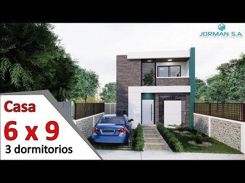 Modelo De Casas De 2 Pisos Casa 6x9 Metros Home Design Plan Youtube Diseño Para El Hogar Planos De Casas Planes De Diseño Para El Hogar