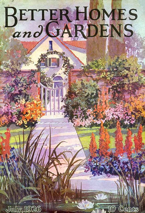 Better Homes And Gardens 1926 07 Vintage Garden Art