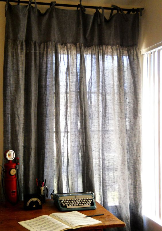 linen curtains: