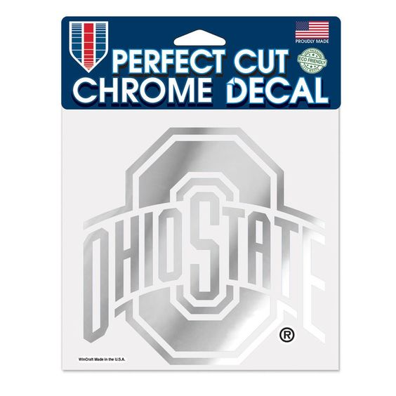 "Ohio State Buckeyes WinCraft 6"" x 6"" Chrome Decal - $9.99"