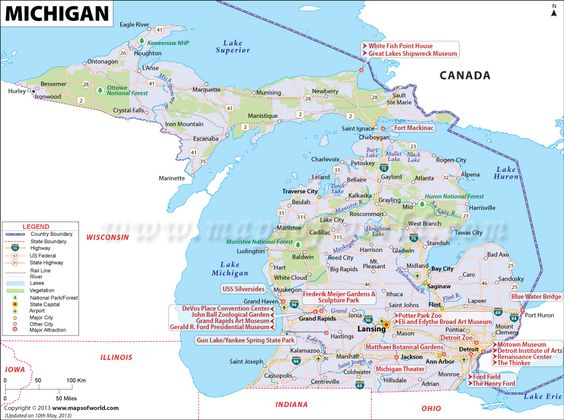 Michigan Circle Tour Road Map