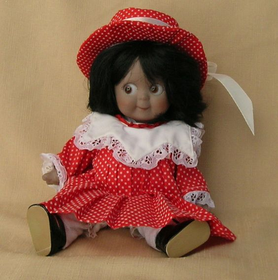 Vintage Reproduction JDK Kentner Googly Eye Bisque Doll