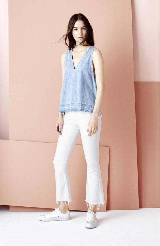 rag & bone/JEAN High Rise Raw Hem Crop Flare Jeans (Bright White) at Nordstrom.com. Made from fresh white denim, these spring-ready jeans are tailored with a flared silhouette and ragged raw hems that hover just above the ankles.