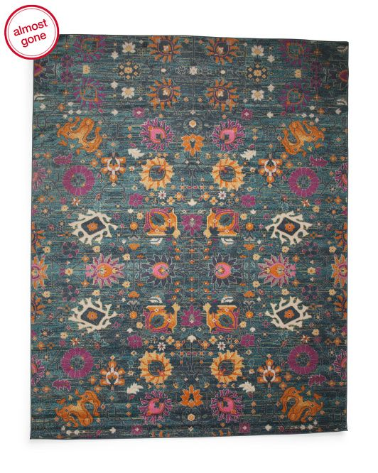 Made In Turkey Bohemian Floral Area Rug Floral Area Rugs Rugs