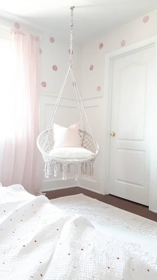 This Hanging Chair Is The Cutest Addition To Your Bedroom It S Super Stylish And So Comfortable Hangingcha Dreamy Girls Bedroom Girl Room Room Ideas Bedroom