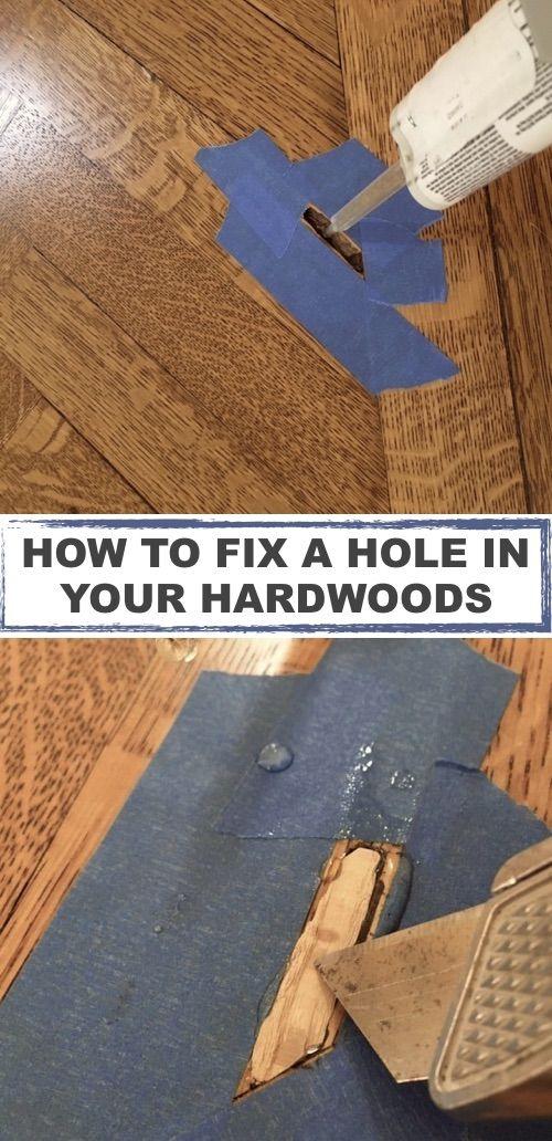Repair Hole In Damaged Hardwood Floor Diy Home Improvement Home Repair Home Remodeling Diy