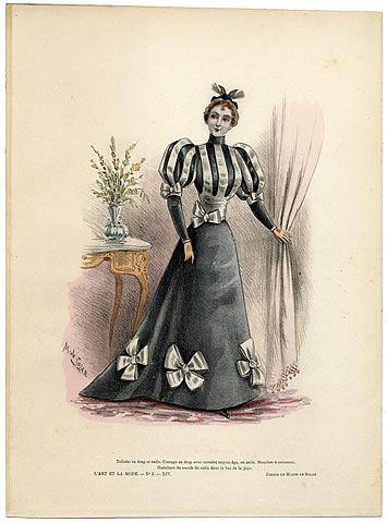 L'Art et la Mode 1893 N°02 Complete with colored engraving by Marie de Solar, Emma Calve