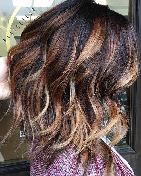Warm Tone Lob For Lob Hairstyles For Fall And Winter Haircolor Ombre Hair Blonde Fall Hair Color For Brunettes Hair Styles
