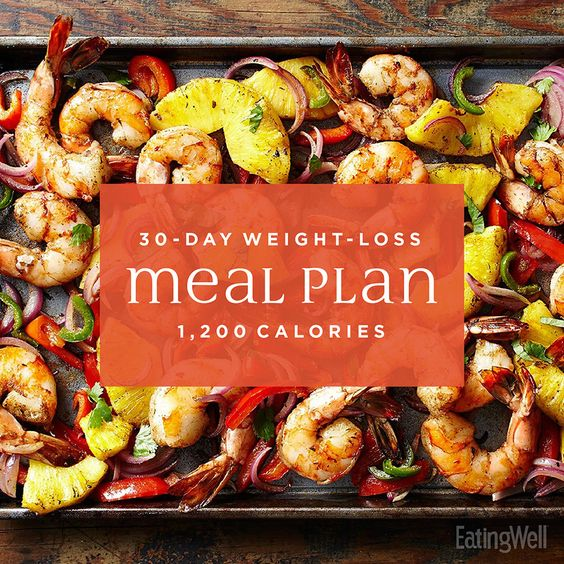 This simple 30-Day weight-loss meal plan provides you with easy-to-make, healthy recipes that are only 1,200 Calories per day. It also provides you with helpful meal-prep tips and shows you how to reuse ingredients and leftovers in creative ways.
