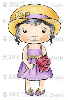 Marci with Rose Rubber Stamp