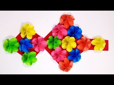 Diy Wall Hangers Wall Hanging With Color Paper Room Decoration