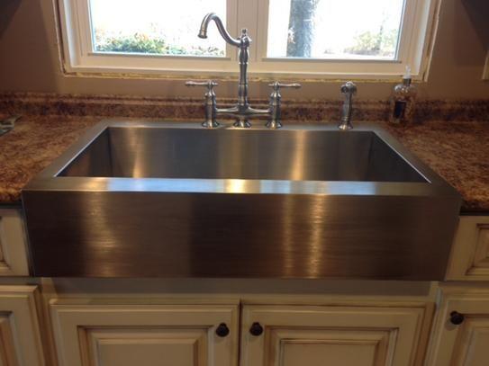 Home Depot Kohler Vault Top Mount Apron Front Stainless Steel 36 In 4 Hole Single Bowl Kitchen Sink Remodel Apron Front Kitchen Sink Farmhouse Kitchen Design