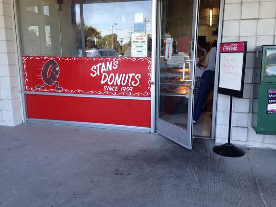 "Stan's Donuts, with a 50 year history in Santa Clara, is tiny & the morning line for glazed donuts winds from the counter to the end of the shop and then back to (and sometimes out of) the door - lots of casual interactions/a sense of community emerge from waiting in line together, running into people you've known since you were little, and providing a uniquely ""Santa Claran"" sense of belonging. #stansdonuts #santaclara"