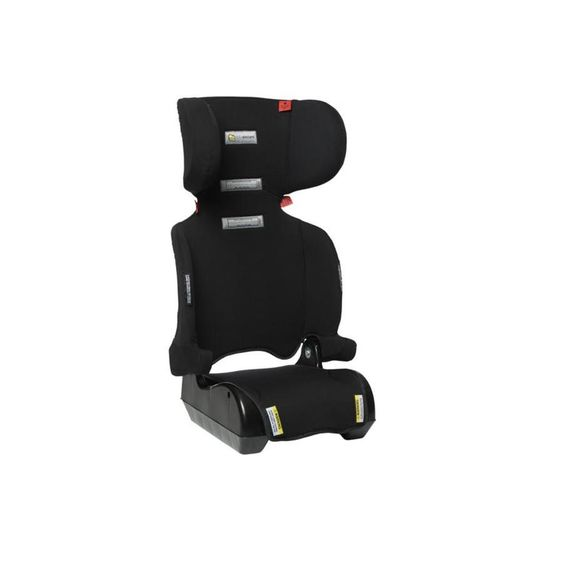 Foldaway Booster seat is lightweight and doesn't require a top tether strap. Anti-submarine design.  Able to be folded to allow easy storage. Suitable from approximately 4-8 years ( suitablility determined by shoulder markers on the seat).