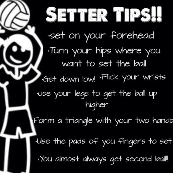 Made these tips and tricks for setters!!!❤️ practicing your footwork is also super important!!