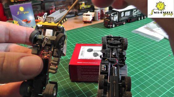 Vorbereitung für ein Tutorial zum Umbau eines Herpa Trucks vom Standmode...