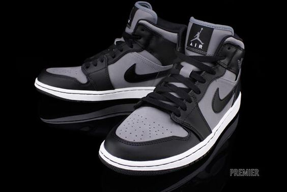 #Air #Jordan 1 Phat - Cool Grey/Black-White