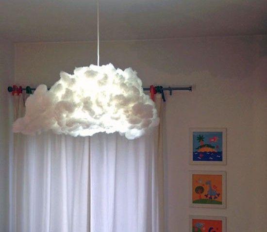Lampe nuage DIY