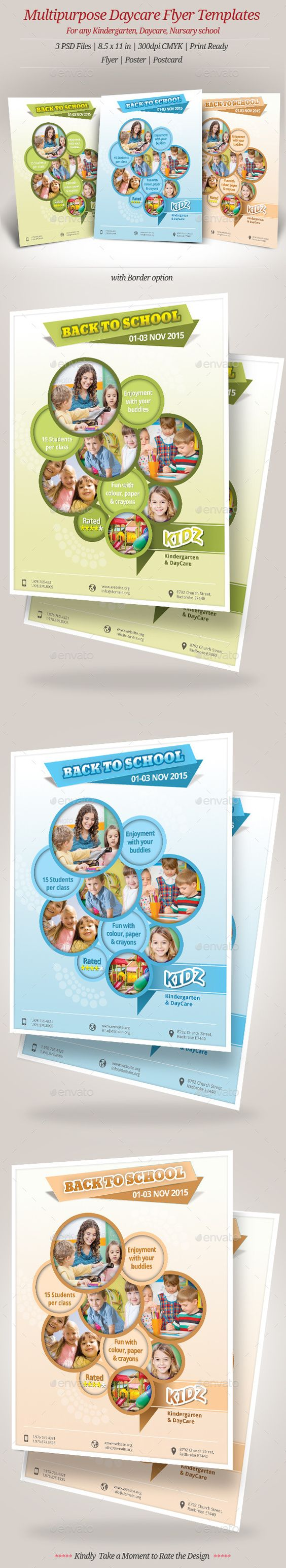 multipurpose daycare flyer templates daycares flyer template multipurpose daycare flyer templates for kindergarten daycare preschool that needs clean professional modern template design
