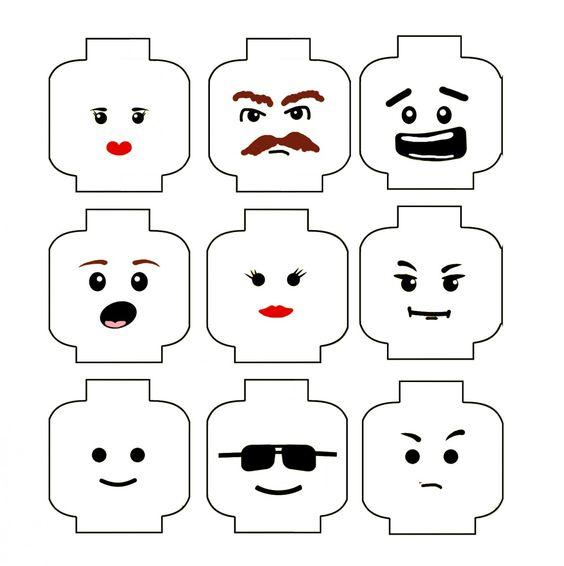 Lego Face à imprimer