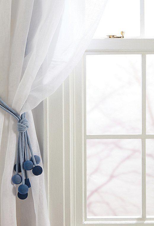How To Decorate With Tassels And Tiebacks Drapery Tiebacks Blue