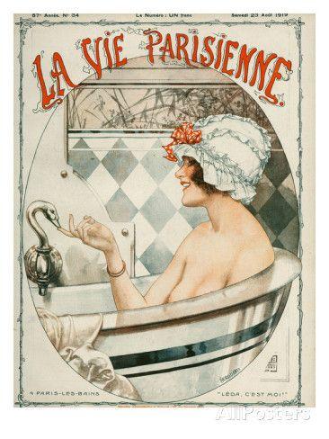 La Vie Parisienne, Cheri Herouard, 1919, France Lámina giclée