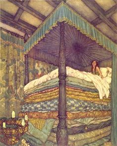 """Dulac """"Princess and the Pea"""". One of my favorite stories as a kid. (Me too!)"""