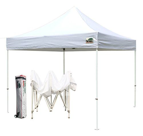 Eurmax Basic 10x10 Feet Instant Pop Up Canopy With Roller Bag And Ground Mat White Check Out This Great Product This Is An Hiking Tent Patio Umbrella Tent