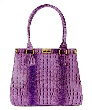 Another great find on #zulily! Purple Alligator Tote by Vecceli Italy #zulilyfinds