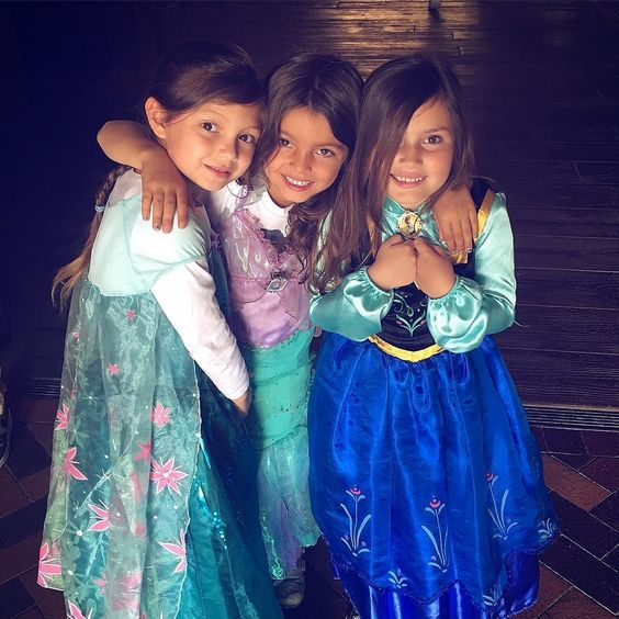 these three princesses are having one heck of a day.  they've trained to be a Jedi hugged Cinderella Snow White and Ariel been on 4 roller coasters (sometimes 2 times in a row) seen ghosts and pirates spun in tea cups and all before 4:00!  my  is so full and happy!!!!! by tessa_desharnais