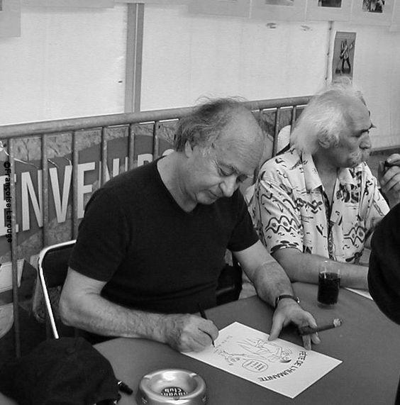 Le portrait du mardi : Georges Wolinski à la fête de l'Humanité. Il aimait le sexe, la politique et les cigares cubains.  Photographies©2003 FrançoiseLarouge