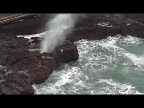 Cook's Chasm & the Spouting Horn on Oregon coast