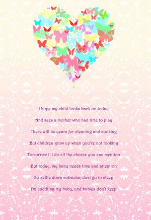 A Mother's Wish Poem Nursery Canvas
