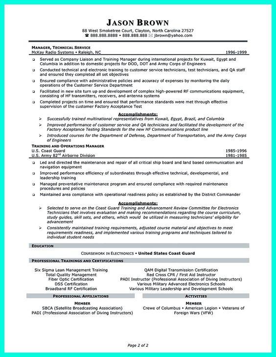 trainer resume sample resume template Pinterest Teacher - waste collector sample resume