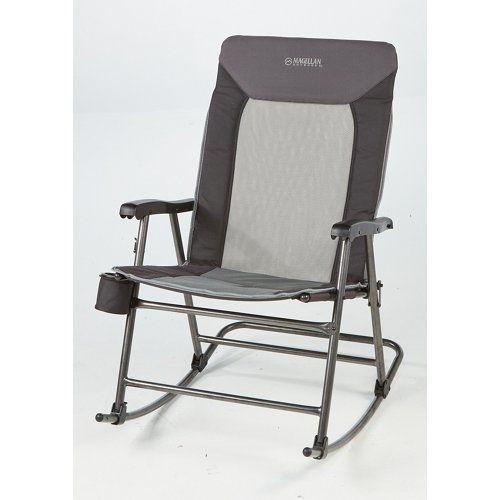Magellan Outdoors Oversize Folding Rocker Outdoor Folding Chairs