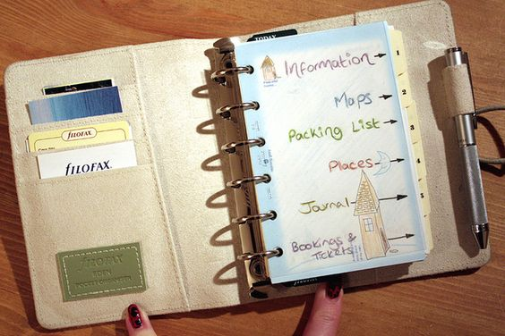 Cool idea for a travel journal.