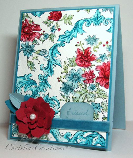 CC196 Bella Toile Beauty by ChristineCreations - Cards and Paper Crafts at Splitcoaststampers