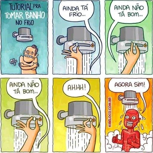 Pin De Viviane Em Tirinhas Tomar Banho No Frio Banho Frio Tomando Banho