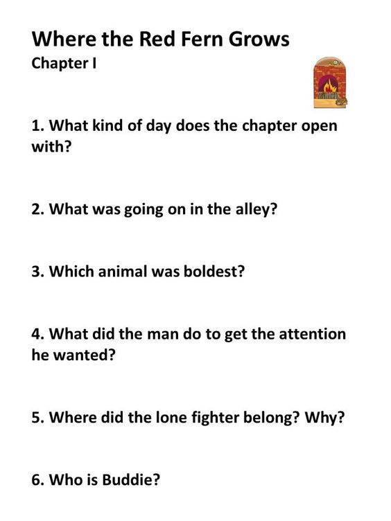 essay question for where the red fern grows Short answer where the red fern grows chapter 16-20 short answer where the red fern grows chapter 8-11 charlotte's web chapter 1 – 3 comprehension questions.