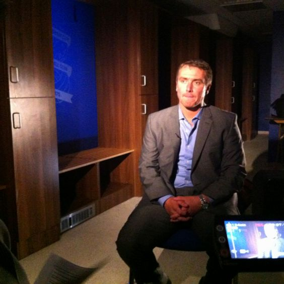 Lee Clark faces the BluesTV cameras. June 2012.