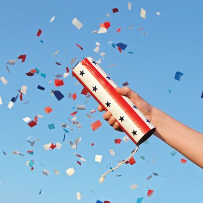 July 4th Confetti Launcher Craft for Kids