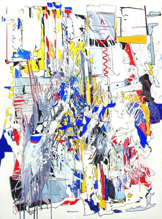 ARTFINDER: Fiesta - Fest - Ölbild 120 x 90 cm by Volker Mayr - Malerei, Ölbild auf Leinwand, oil on canvas 90 x 120 cm Im Stil des abstrakten Expressionismus.  Ein farbenfrohes Bild voller Lebensfreude! Temperamentvol...