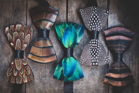 Brackish Bow Ties -- Made w/real bird feathers; saw these at an art show in South Carolina! Really unique gift.